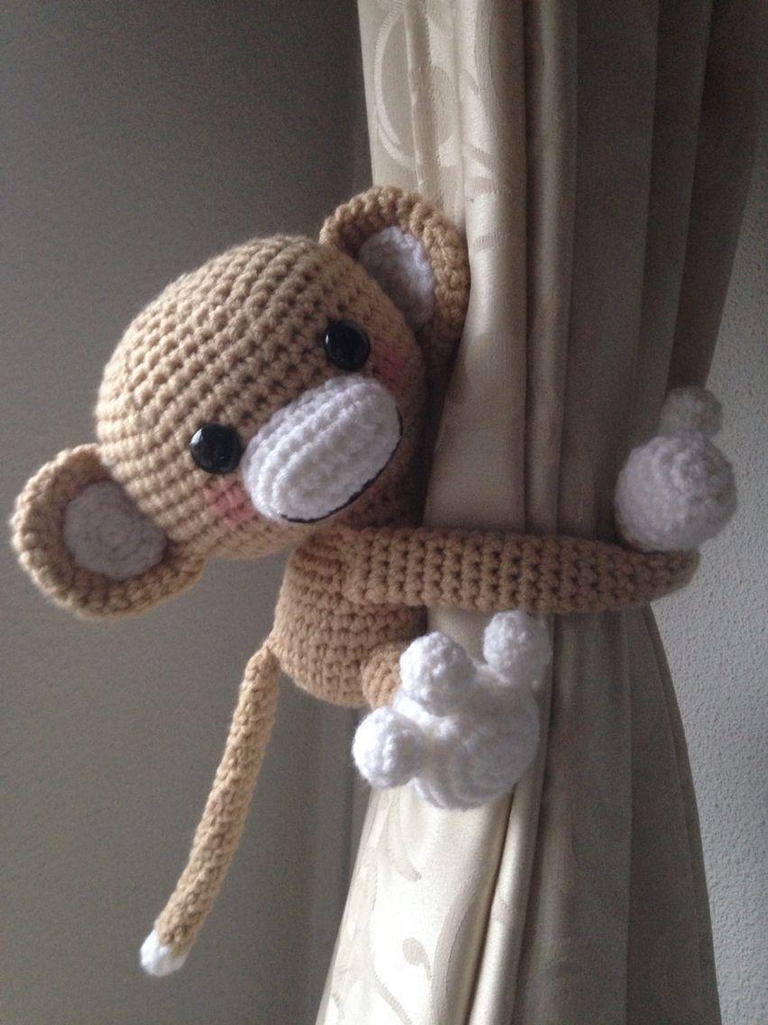Gordijn Aapje Zelf Bedacht Patroon Crochet Crochet Amigurumi
