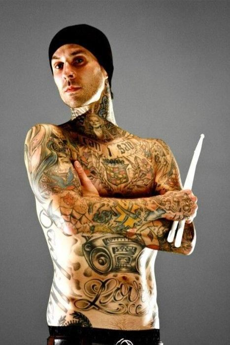 Travis Barker 2013 Tattoos