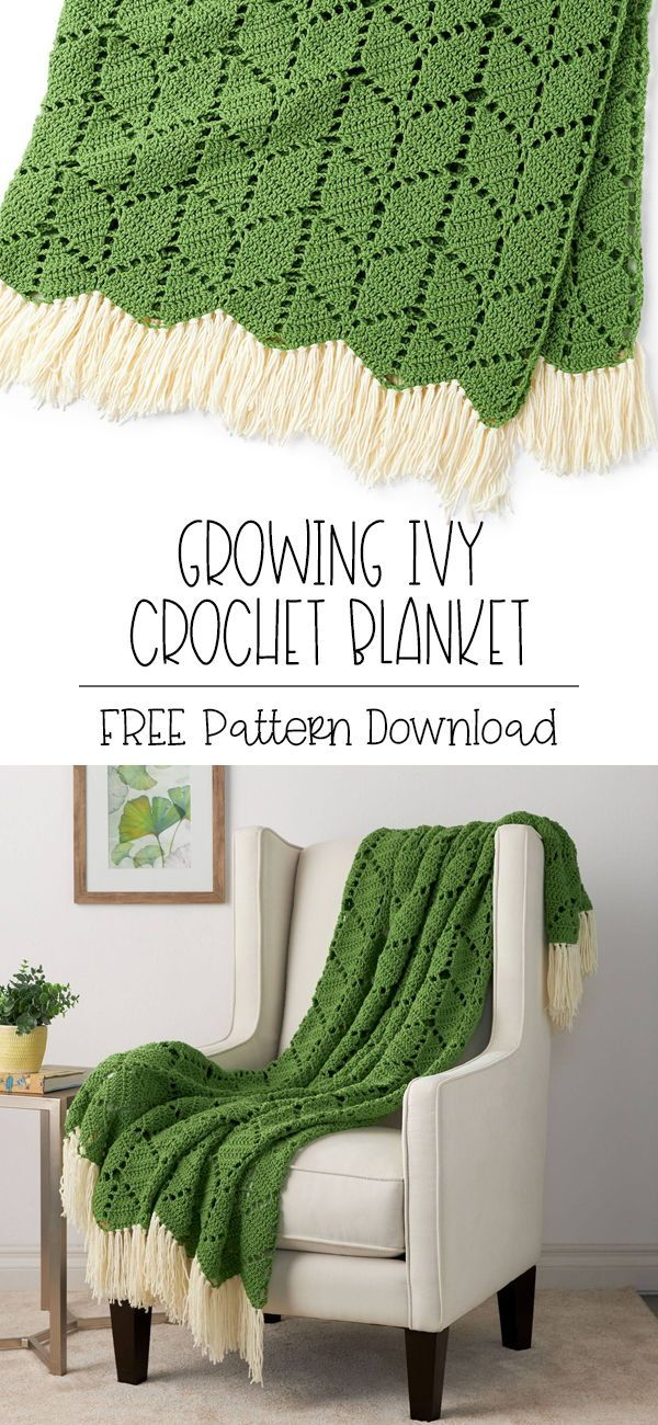 Bernat Growing Ivy Crochet Blanket | Yarnspirations