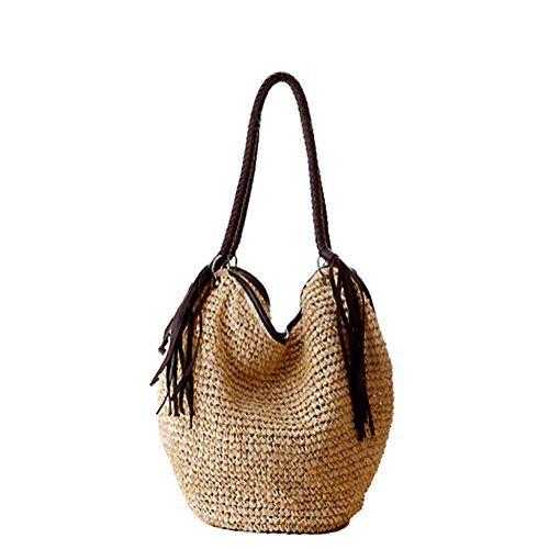 Gspstyle Women Straw Shoulder Bag Purse