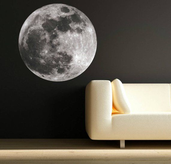 Photo of Moon Wall Art Decals Moon Science Astronomy Space Universe World Wall Sticker Kids Bedroom Decal Mural Wall Art Stickers WSD53