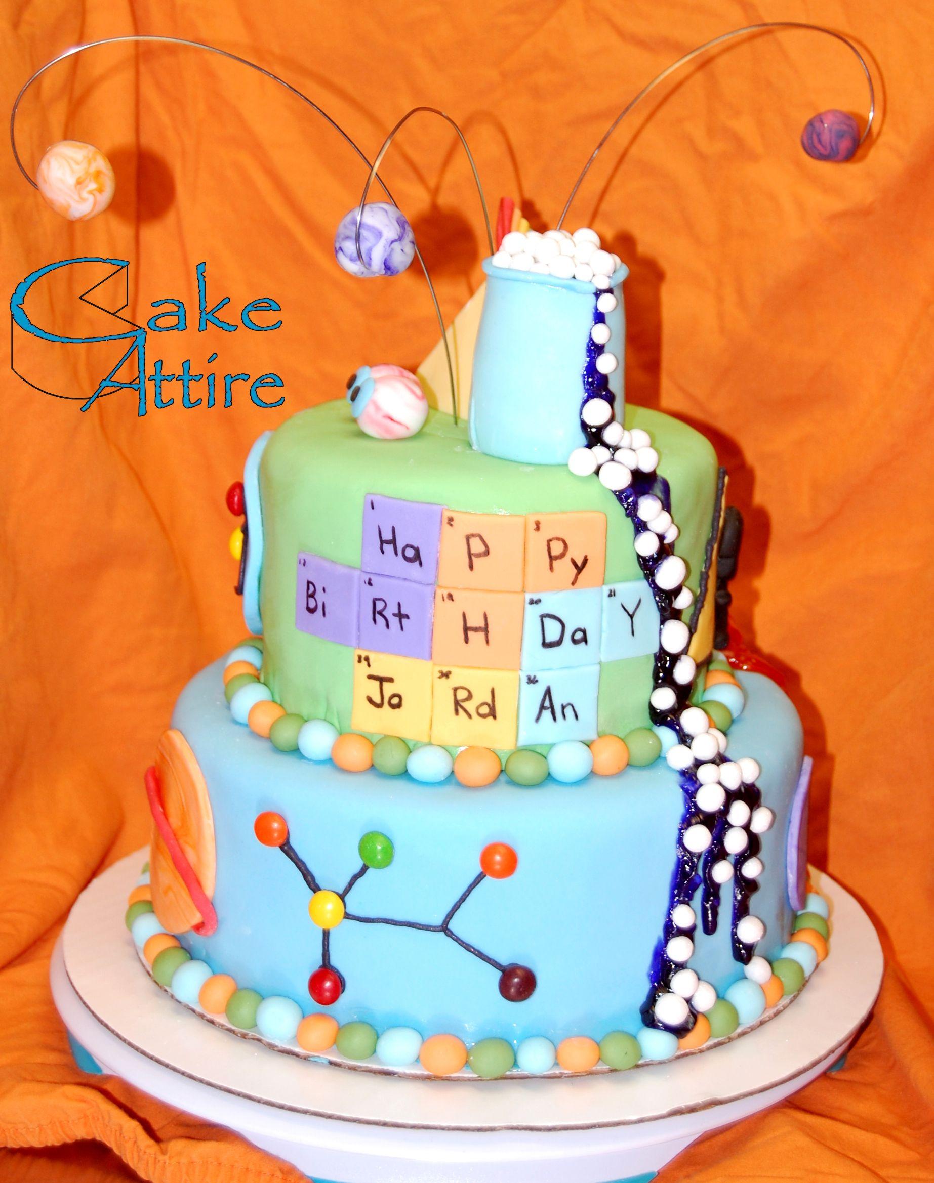 Sensational Mad Science Birthday Cake Minion Birthday Cake Science Birthday Birthday Cards Printable Inklcafe Filternl
