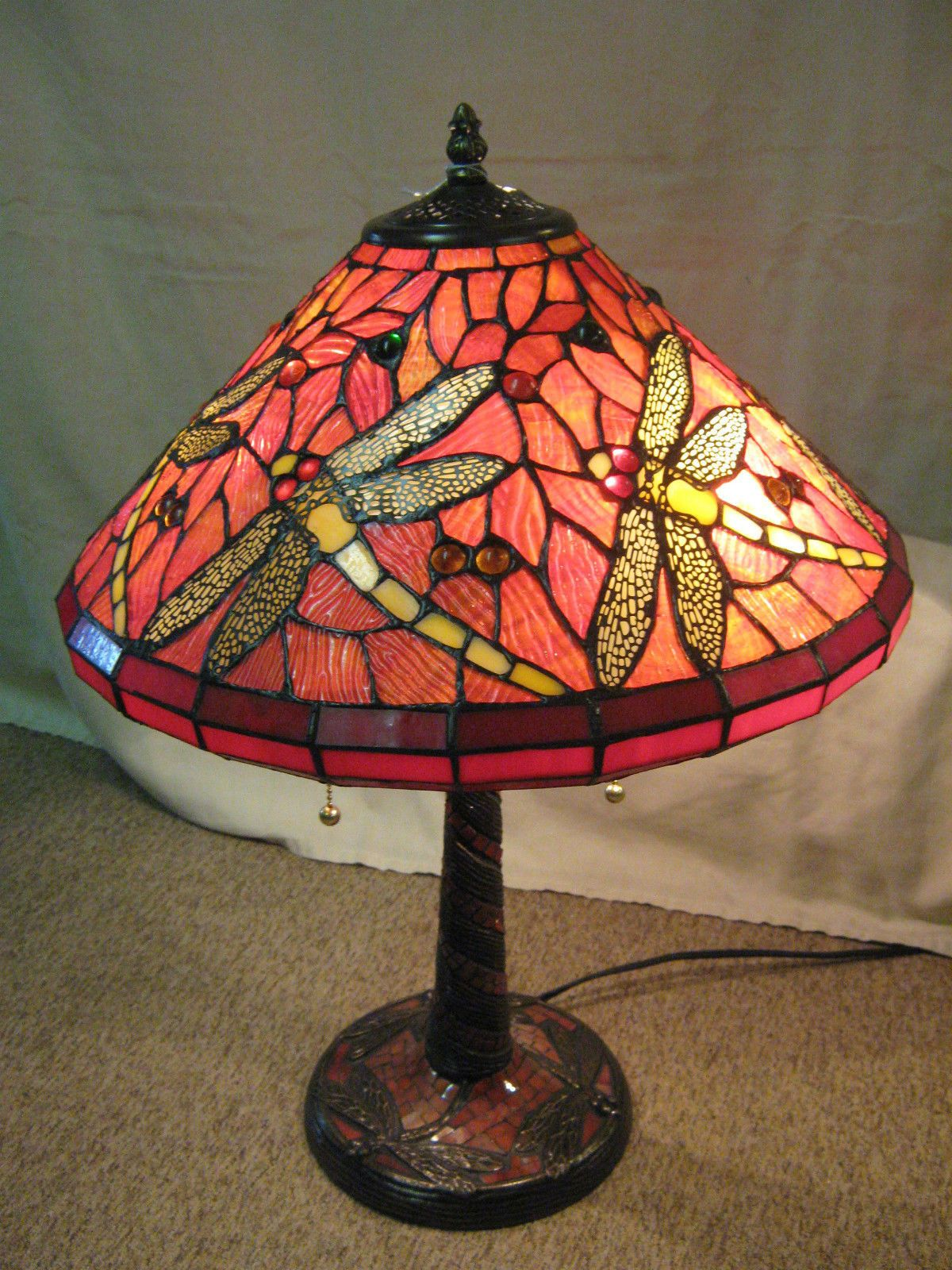 Lampara Tiffany Libelula Tiffany Style Stained Glass Dragonfly Lamp Lamps Pinterest