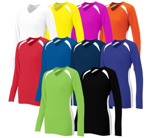 Augusta Spike LS Jersey - 92% polyester/8% wicking pinhole mesh.  Call 952-808-0100 for more details. Printing available.