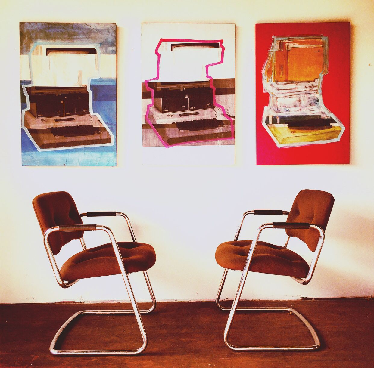 Steelcase Chrome Cantilever Chairs (6) 125 www.facebook