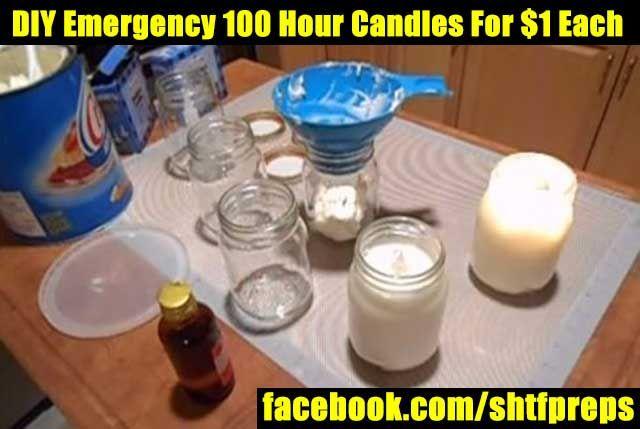 Shtf Emergency Preparedness: DIY Emergency 100 Hour Candles For $1 Each
