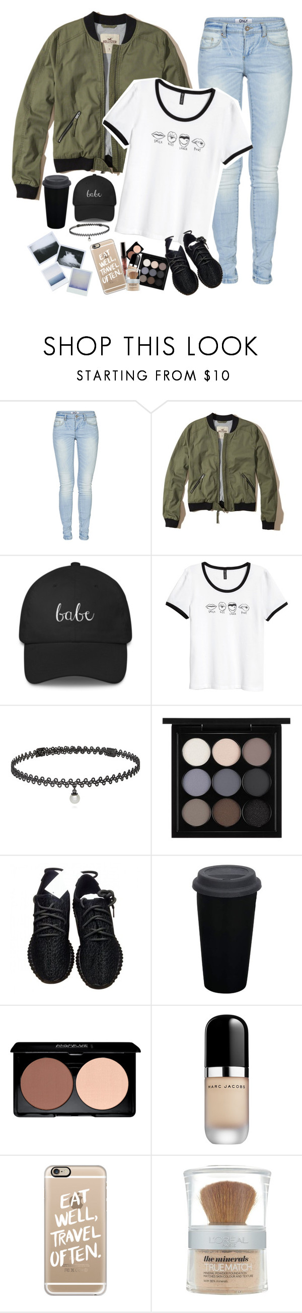 """{it's a disgrace, I was misplaced, born in the wrong time, and in the wrong place}"" by graciegirl2015 ❤ liked on Polyvore featuring ONLY, Hollister Co., BERRICLE, MAC Cosmetics, adidas, Marc Jacobs, Casetify and L'Oréal Paris"