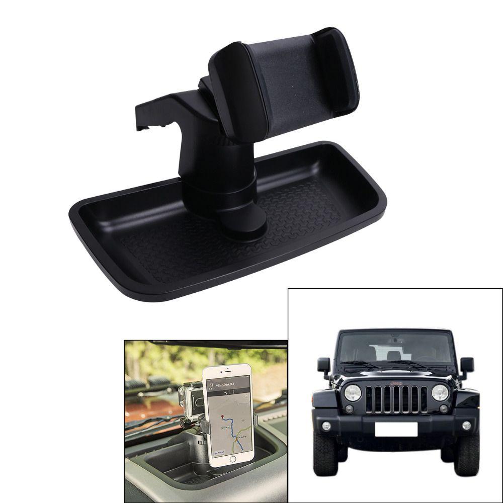 Black Cell Phone Holder Mount Dash Multi Mount Phone Bracket For Jeep Wrangler Jk 2012 2016 Car Inte Car Interior Accessories Interior Accessories Car Interior