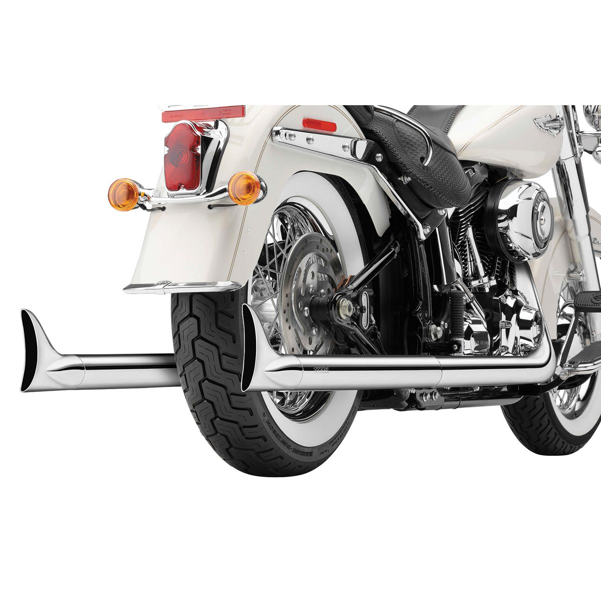 cobra softail duals full exhaust system