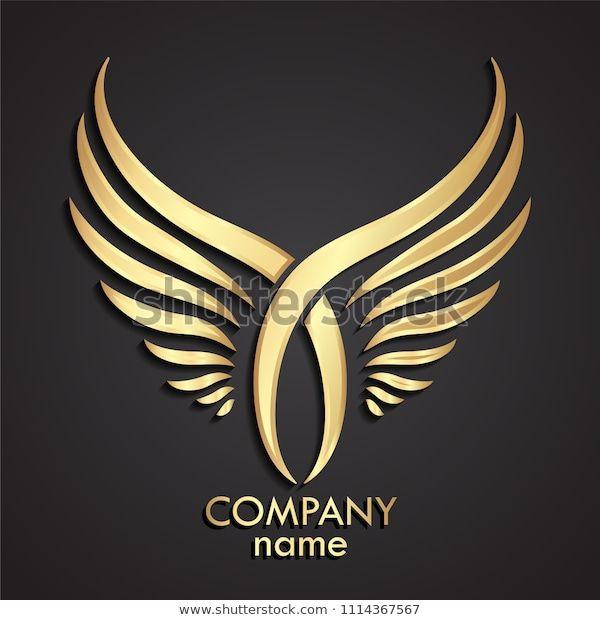 Descubra 3d Golden Crossed Double Wings Logo Im Genes De