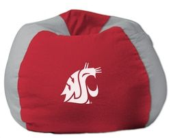 Marvelous Washington State Cougars Bean Bag Chair Washington State Pdpeps Interior Chair Design Pdpepsorg