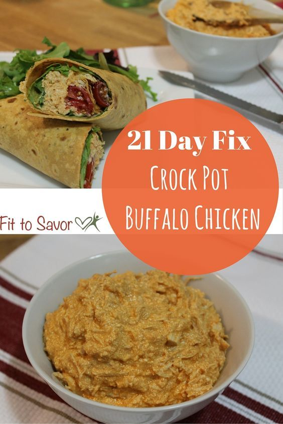 This Recipe For Crock Pot Buffalo Chicken Is Awesome And Its 21 Day