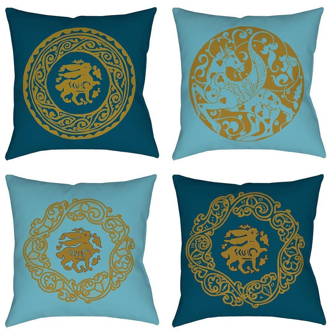 Pillows pillows and more pillows - new colors - age old designs. www.thearabesque.com. #islamicart #thearabesque #arabesque #oldworld #historical #pillow #throws #livingroom #homedecor #teal #bunny #pegasus #horses #blue #etsy #craft #history #historythroughart