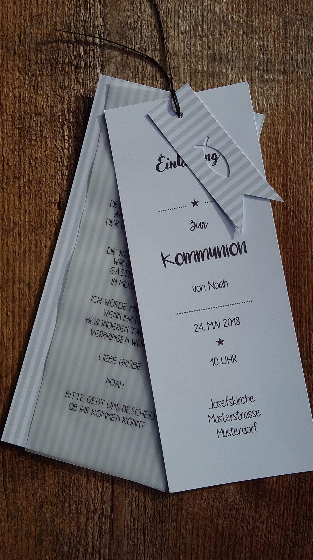 Schöne einladungskarte zur kommunion konfirmation oder hochzeit kann individuell gemacht werden grösse 20 x