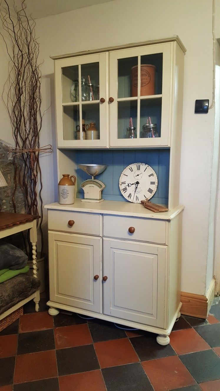 Lovely Glazed Top Kitchen Dresser Ready For A New Home Painted With Annie Sloan Old Ochre And Du Duck Egg Blue Chalk Paint Blue Chalk Paint Shabby Chic Decor