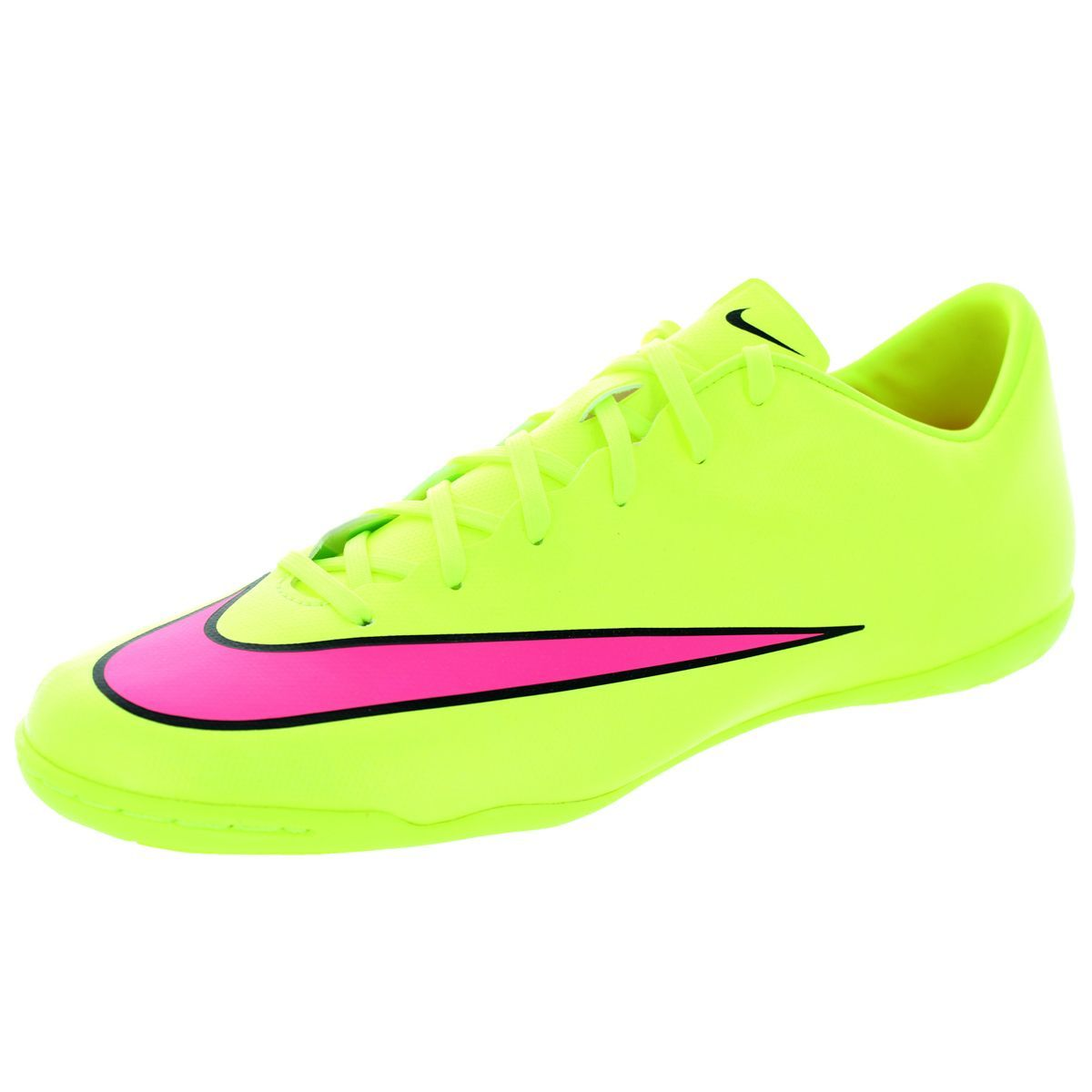Nike Men's Mercurial Victory V Ic Volt/Hyper Pink/Black Indoor Soccer Shoe