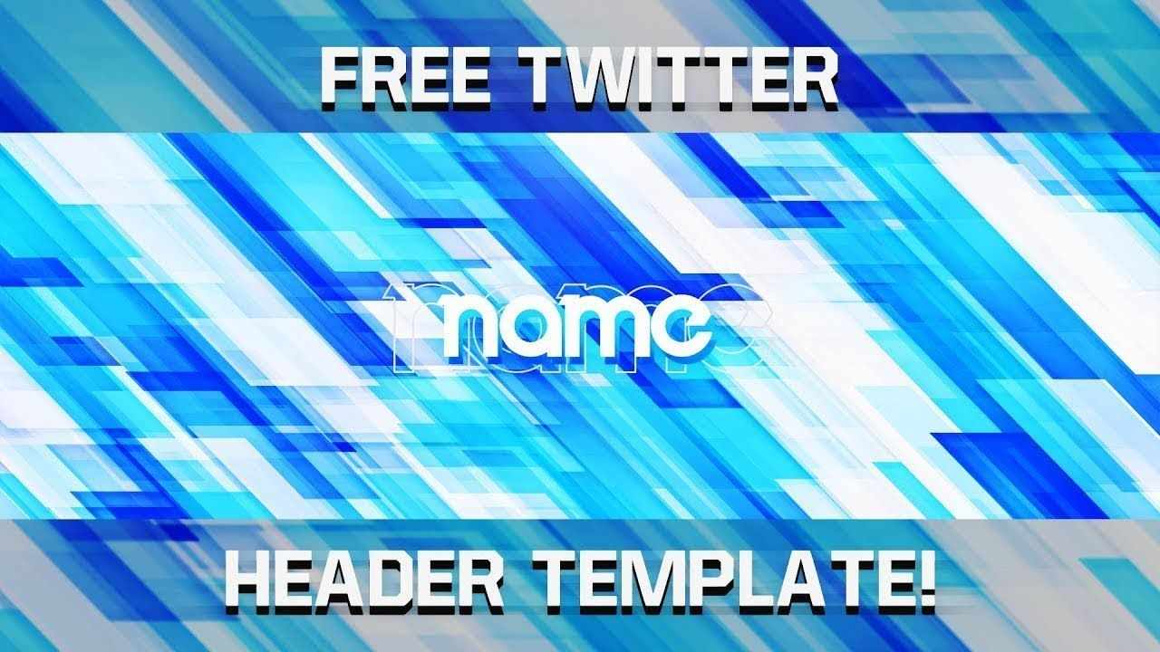 Free Abstract Twitter Header Template 😀 | How to Make Your