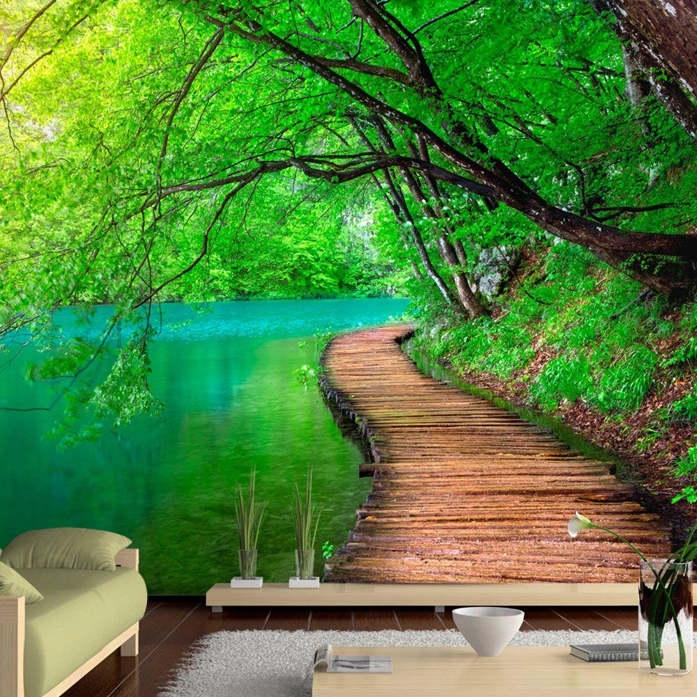 Vlies Tapete Top Fototapete Wandbilder Xxl 350x256 Cm Landschaft Natur Wald Brucke C A 0073 A B In 2020 Fototapete Tapeten Und Wandgestaltung Fototapete