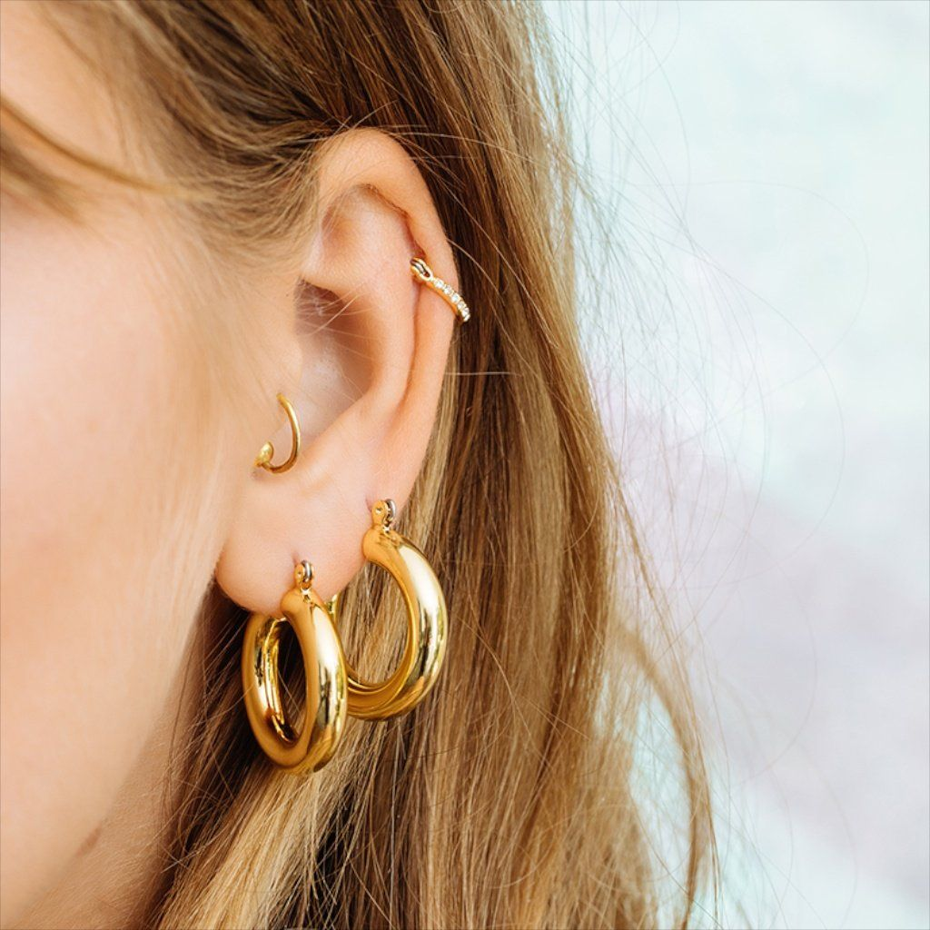 c2eee56b4 Baby Amalfi Tube Hoops- Gold in 2019 | Jenn | Luv aj, Jewelry, Earrings
