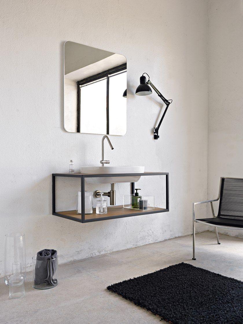 Single Wall Mounted Vanity Unit Frame Single Vanity Unit By Scarabeo Ceramiche Arredamento Design Idee Per La Casa