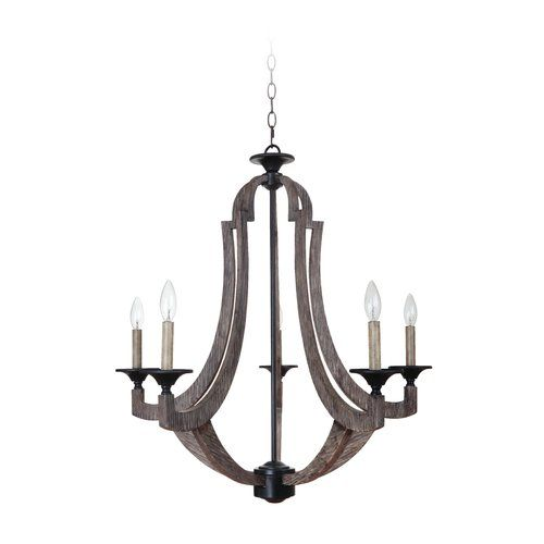 Laurel foundry modern farmhouse marcoux 5 light candle style chandelier
