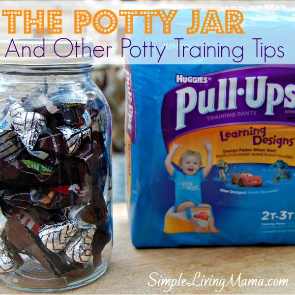 The Potty Jar is a fun reward system to help you potty train your child. Also check out the other great potty training tips! | Simple Living Mama #PUBigKid #Ad