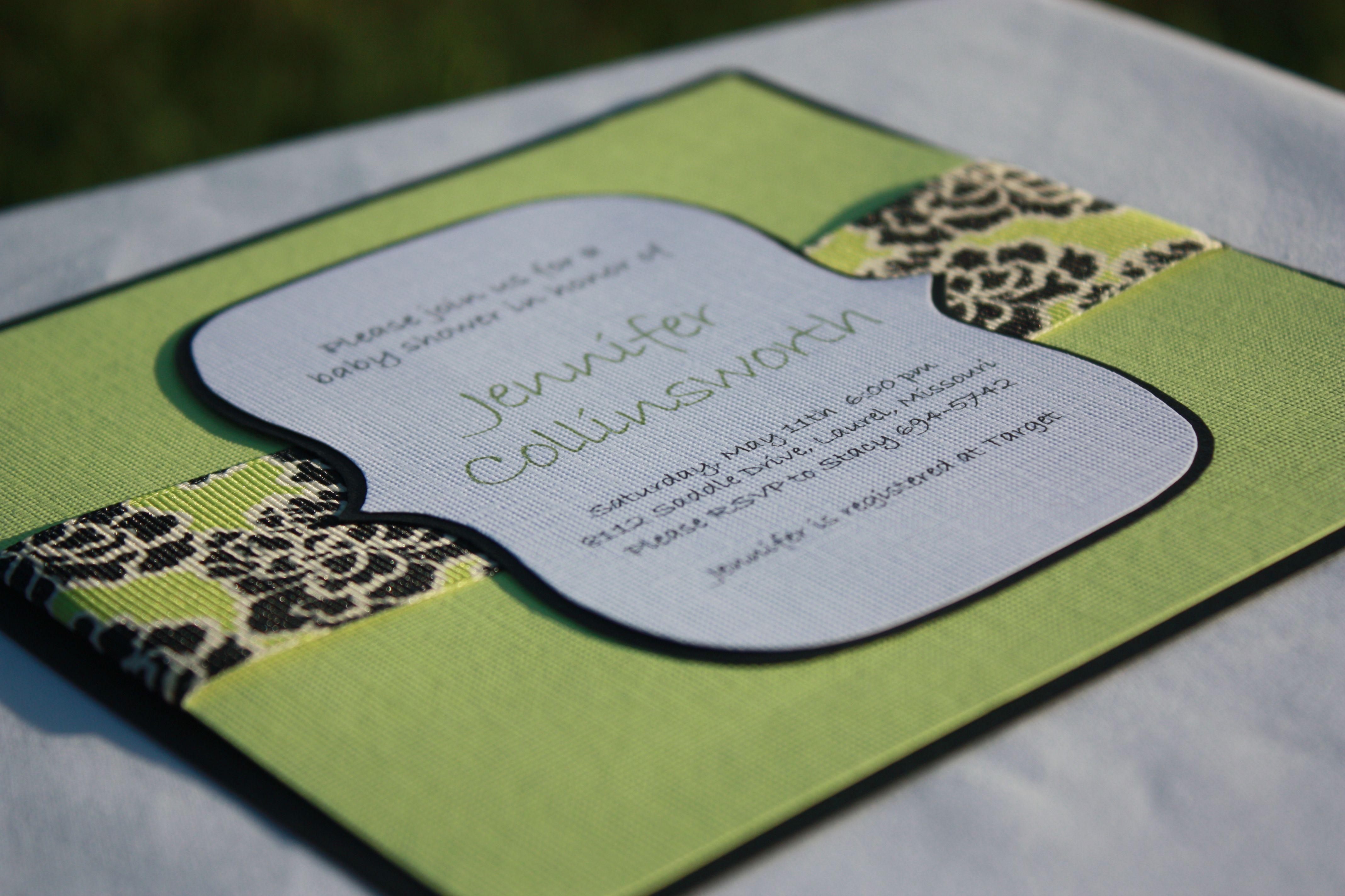 homemade baby shower invitations | homemade invitations-baby shower5 ...