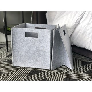 Handmade 2 Piece Felt Fabric Storage Cube By Handcrafted 4 Home 12 X 12 X 12 Fabric Storage Bins Cube Storage Fabric Storage
