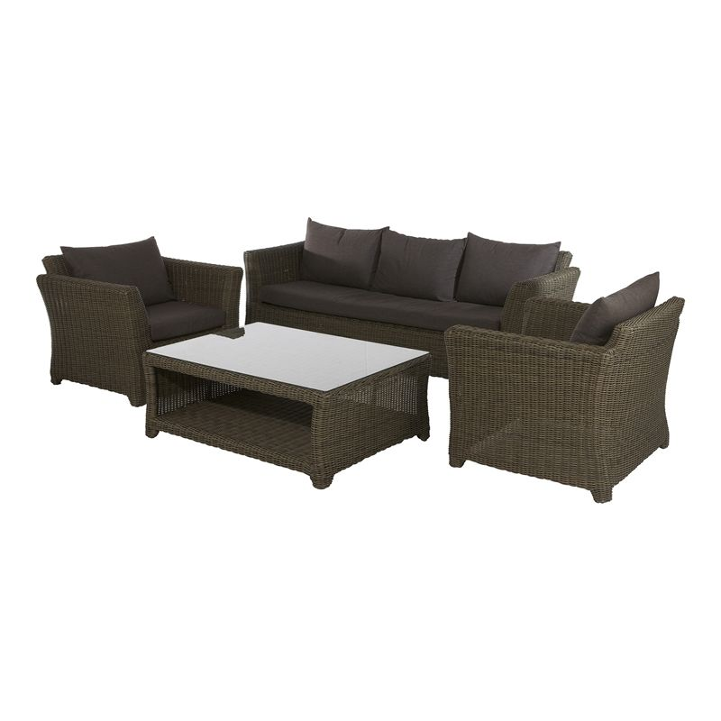 Find Mimosa 4 Piece Deluxe Aluminium Wicker Lounge Setting at ...