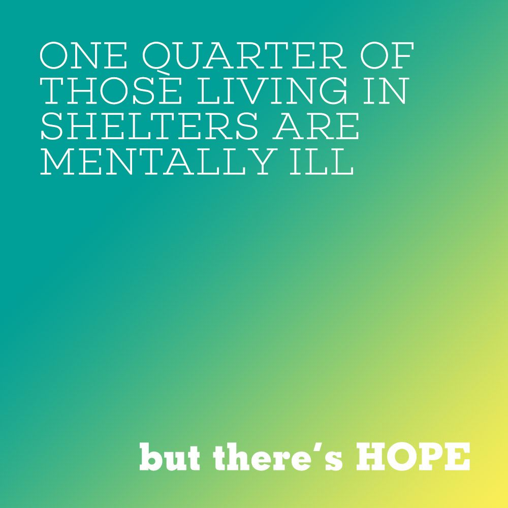 One Quarter Of Those Living In Shelters Are Mentally Ill Hope4mh