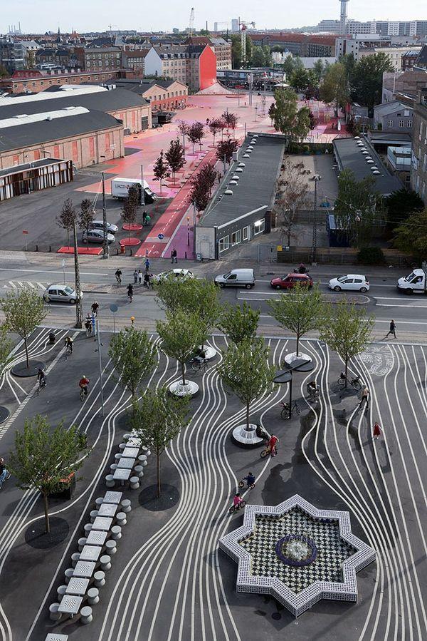 哥本哈根Superkilen公园,由BIG参与设计
