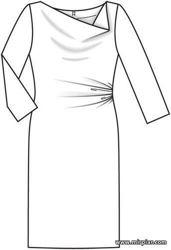 6d7cf70e1593fca free pattern, выкройки скачать, дизайнерские платья, блузки, асимметрия, выкройки  платьев, шитье, готовые выкройки, cкачать, ПЛАТЬЯ, пла…