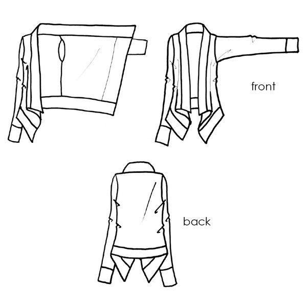 Draped Waterfall Cardigan image 4 | Sewing Stuff!!!!!!! | Pinterest ...