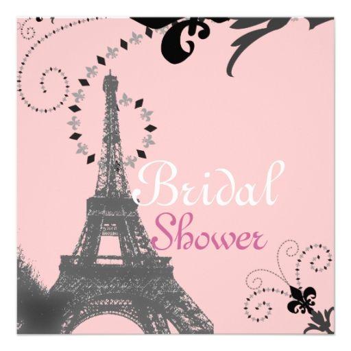 Romantic Paris Vintage Bridal Shower Invitation