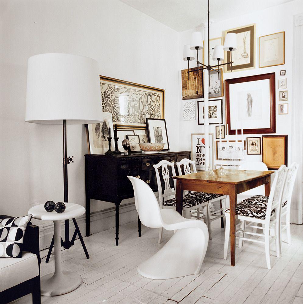 Julianne moores montauk hideout dining area floor lamp and bryant chandelier and studio floor lamp in broze by thomas obrien dominomag arubaitofo Gallery