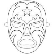 Mascara De Luchador Dibujo Para Colorear Dibujos Para Colorear Colorear Gratis Juegos Para Colorear