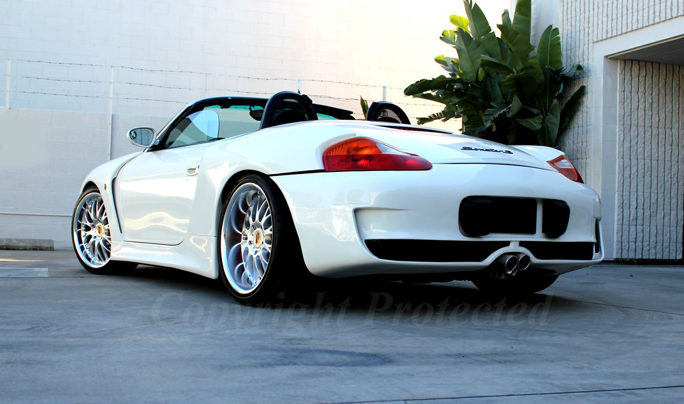 Wide body customer s boxster perfect set of wheels for this application