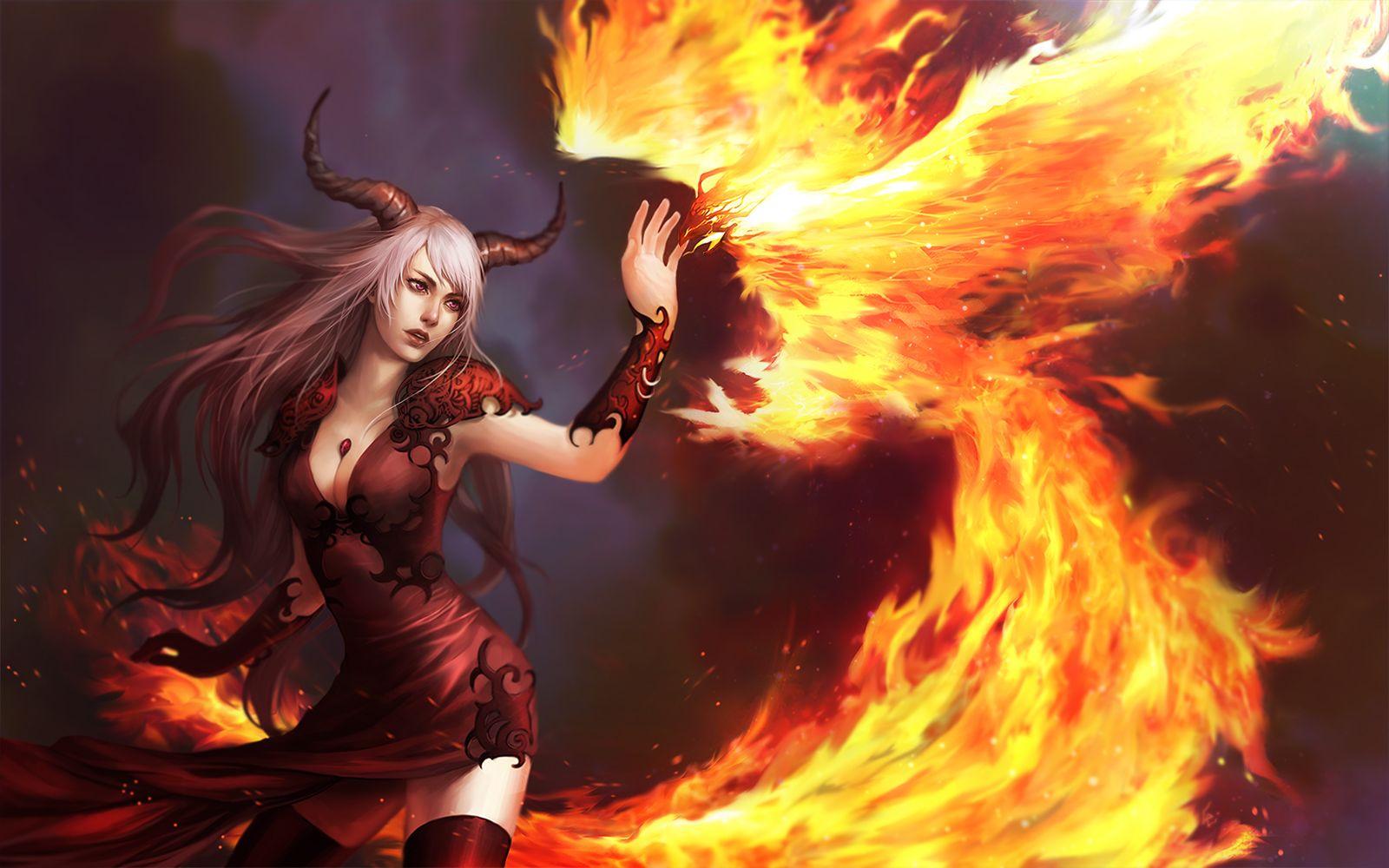 Phoenix_Demoness by Unodu on deviantART