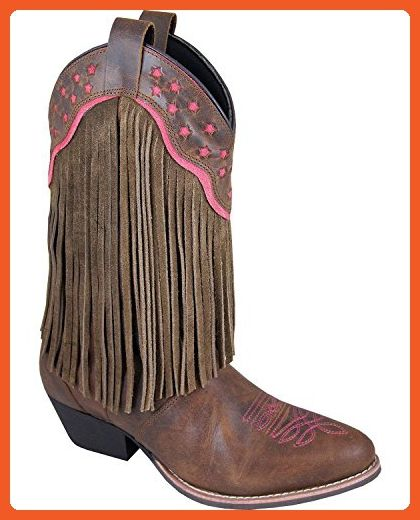 b036a0c4e1a Smoky Mountain Boots Womens Helena Brown Leather Fringe Pink 9.5 M ...