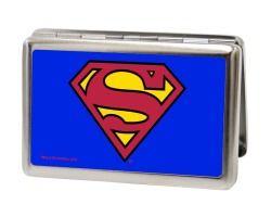 Superman Blue Business Card Holder