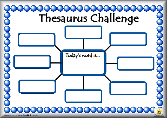 Thesaurus Challenge And Other Goodies Activities To Go Along With