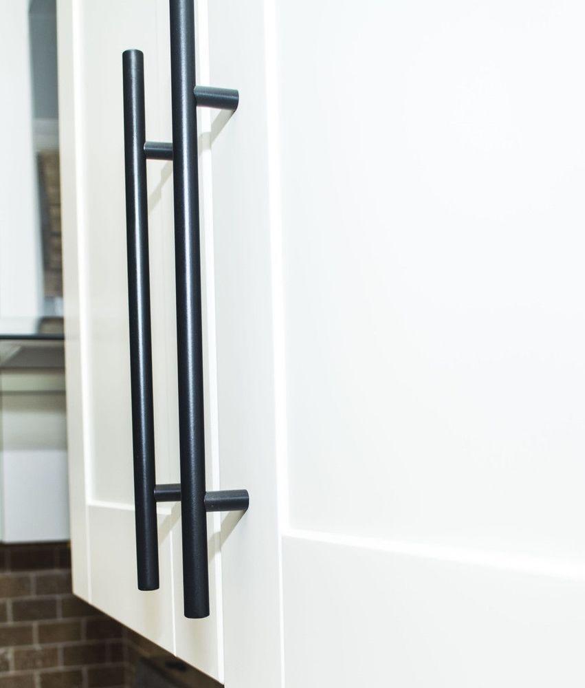 Black Stainless Steel Kitchen Cabinet Handles T Bar Pull 2 4 6 8 10 12 In Home Garden Home Improvement Buildin Barn Door Handles Barn Door Barn Door Hardware