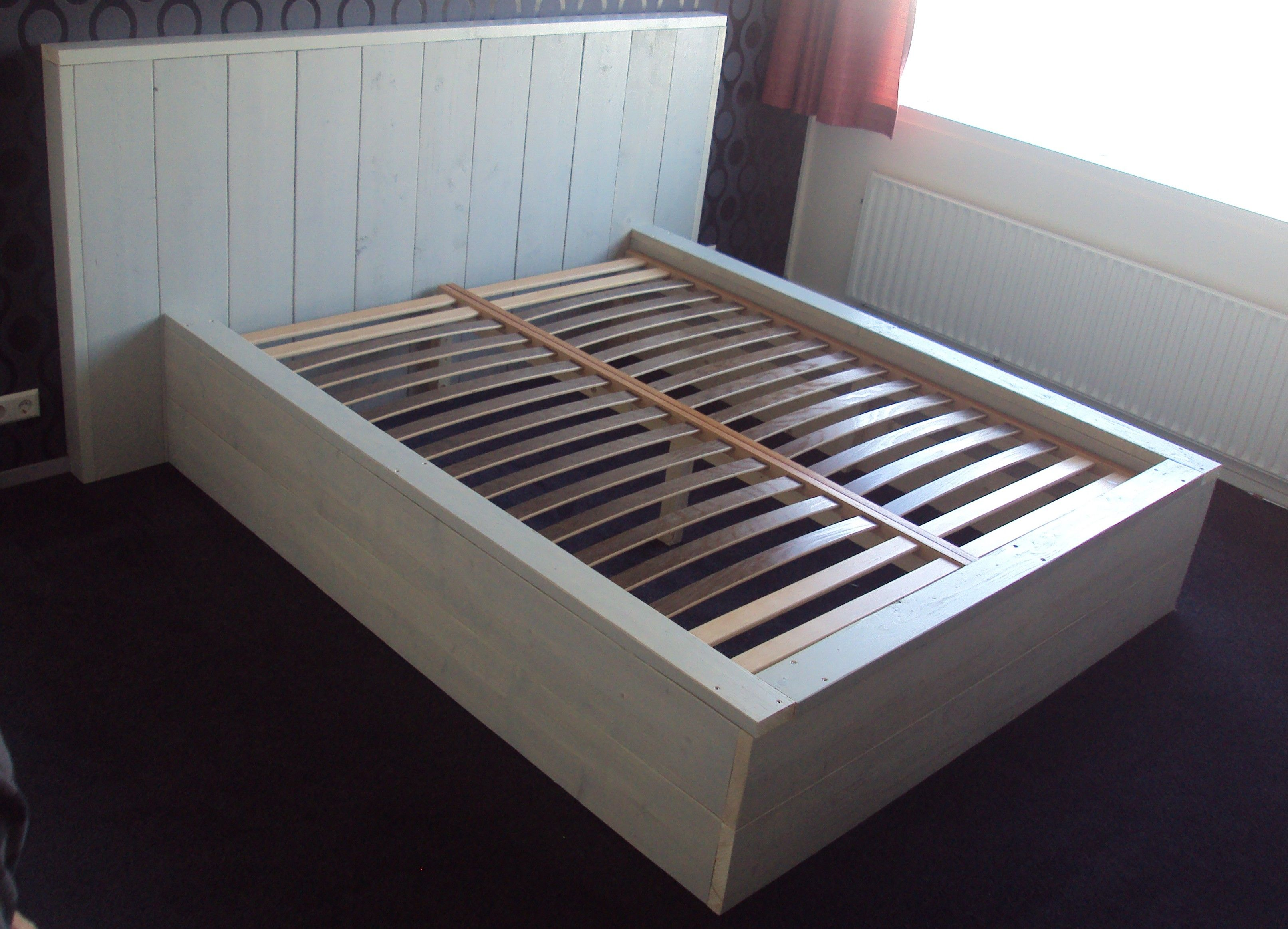 2-persoons Bed van Steigerhout in 2018 | Master Bedroom | Pinterest