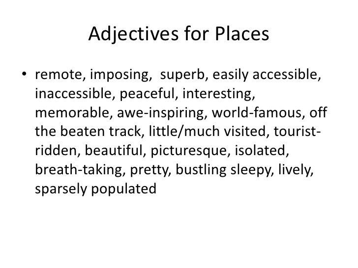 Descriptive essay about a memorable place