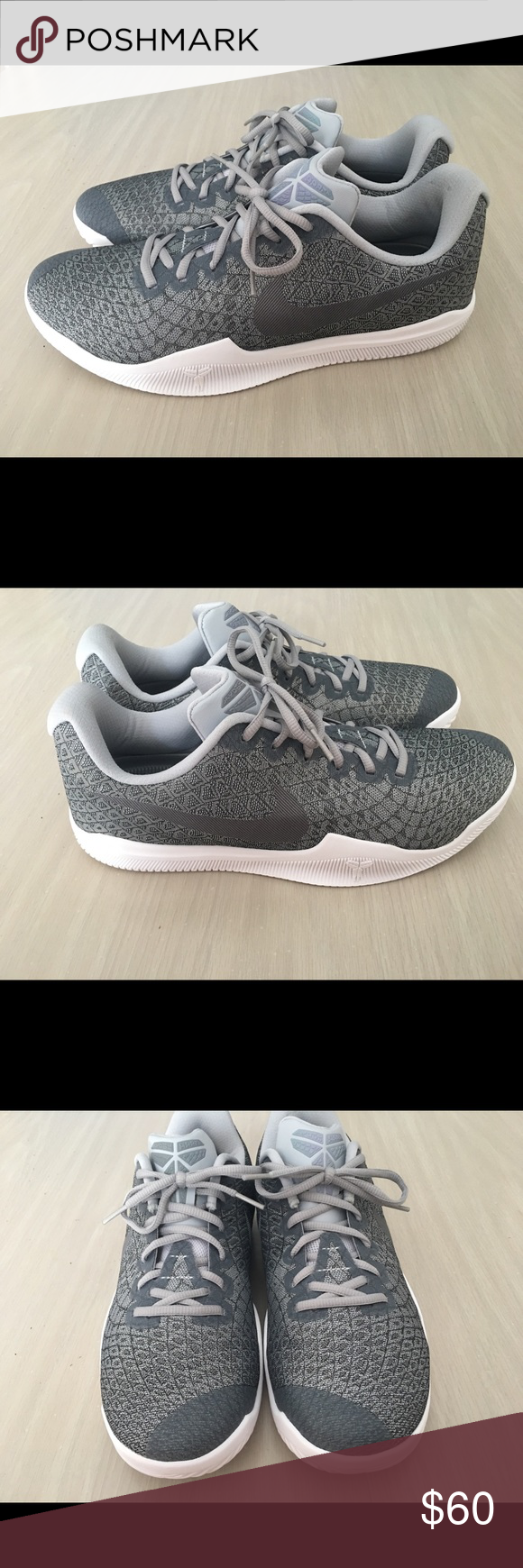 bcf1052e1864 Nike Kobe Mamba Instinct Pure Platinum Cool Grey Nike Kobe Mamba Instinct  Pure Platinum White Cool Grey 852473-002 Men s Size 11 These are brand new  without ...