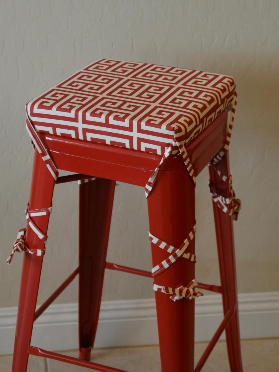15 Easy Ways To Add Color To Your Kitchen Red Bar Stools Bar Stool Cushions Stool Cushion