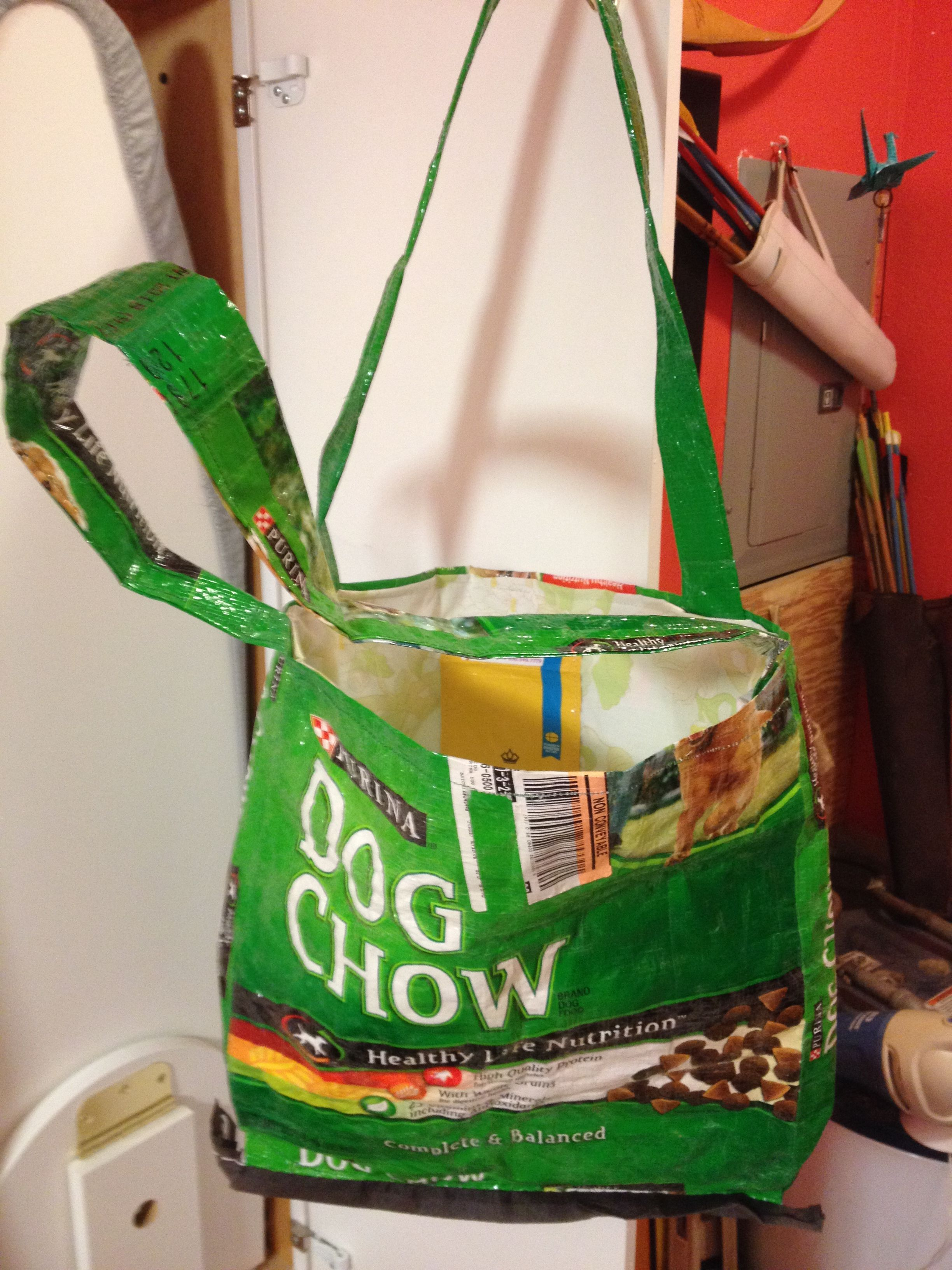 Recycled Purina Dog Chow Tote Bag Recycle Crafts Diy Sew
