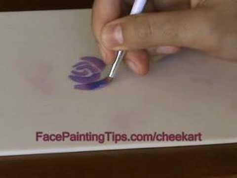 Cheek Art Designs: How to Paint a Flower