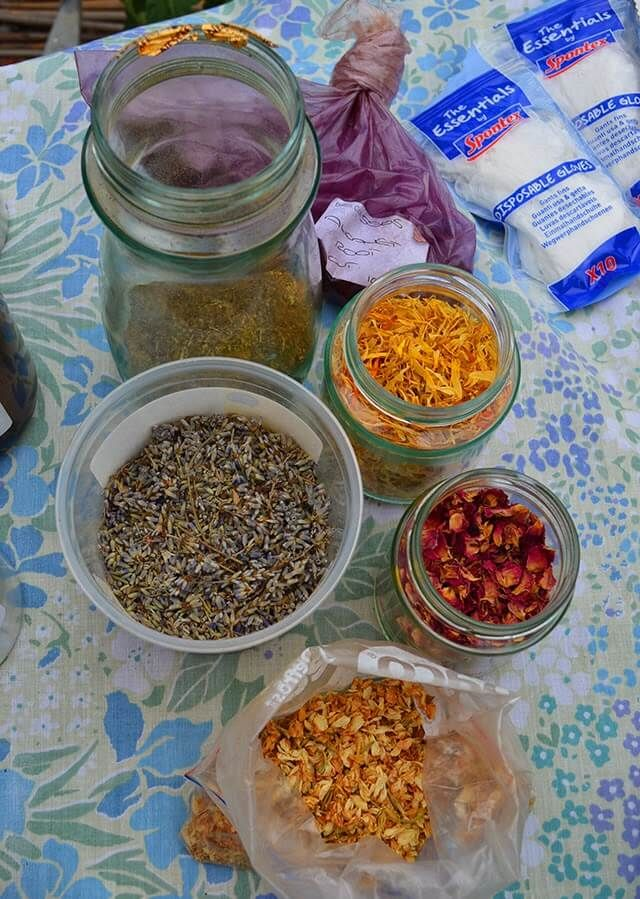 How to use Fresh Herbs & Flowers in Beauty Products   Witchy   Fresh