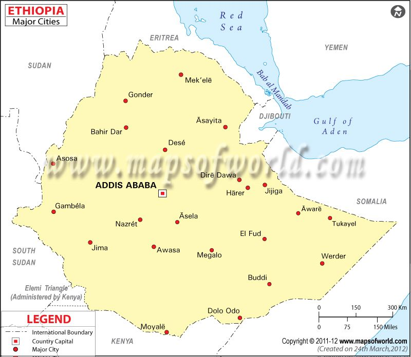 Ethiopia Cities Map ethiopia Pinterest City maps, Ethiopia and - new ethiopian plateau on world map